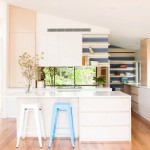 doherty lynch kitchen striped walls floating shelves cococozy