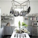 harpers bazaar stainless steel cabinets pot rack hamptons kitchen cococozy