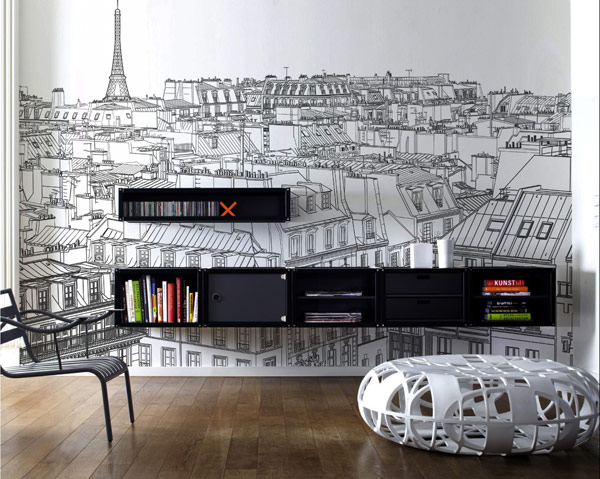Paris-View-wall-sticker